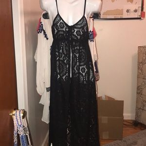 Other - Black lace swim coverup